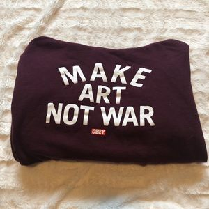 "Obey Tops - Obey ""Make Art Not War"" Hoodie"
